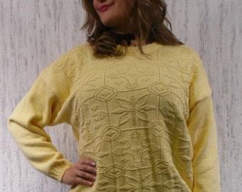 Oversized cotton jumper