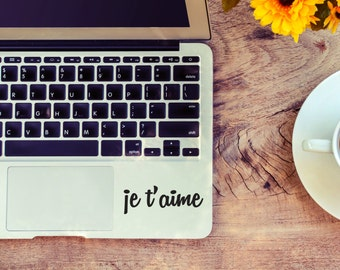 Je t'aime decal for laptop, car, macbook, wall 55