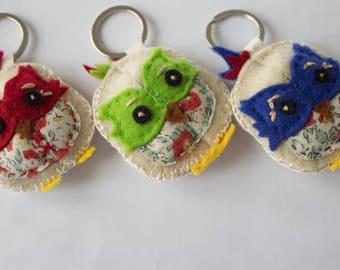 Owl Keychain, handmade