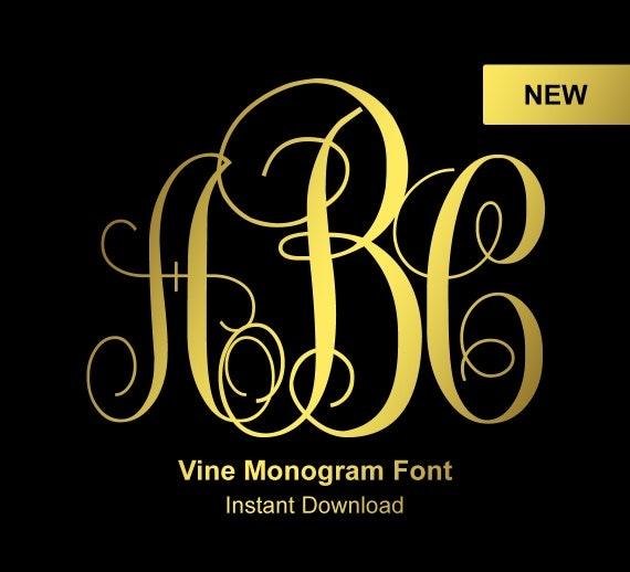 vine monogram font monogram font interlocking monogram