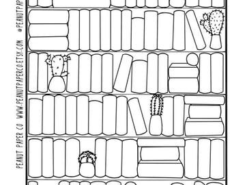 Books I've Read Tracker, Erin Condren Sticker, Happy Planner Sticker, Bullet Journal Sticker