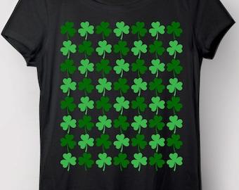 Clovers Shirt, Clovers, Shamrocks, Irish, Saint Patricks Day t-shirt, St Patricks Day Shirt, St Paddys Day Shirt, Clovers All Over Shirt