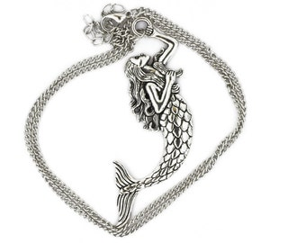 Large Mermaid Necklace or Keychain