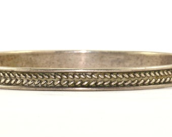 Vintage Mexico Taxco Woven Braided Bangle Bracelet Sterling Silver BR 1150