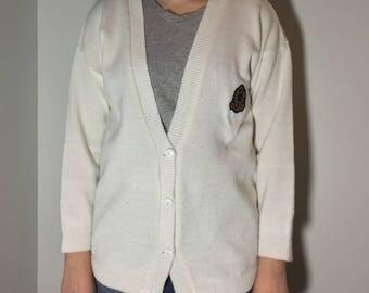 White Cardigan - Vintage clothing