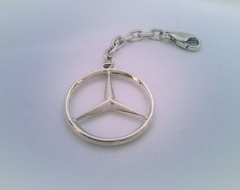 Silver Keychains Mercedes silver 925