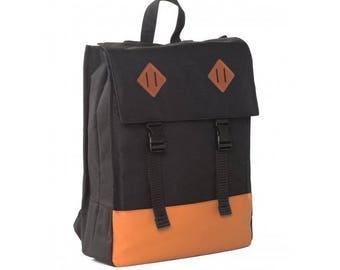Laptop Backpack, Book Bag, School Backpack, Bookbag, Minimalist Backpack, Square Backpack, Boys Backpack, Girls Backpack, Canvas Backpack