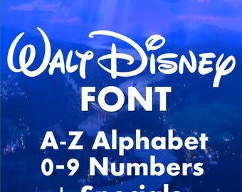 Disney Font Monogram Font SVG Collection - Disney Font Monogram Alphabet DXF - Monogram Clipart -Files for Silhouette Cameo or Cricut