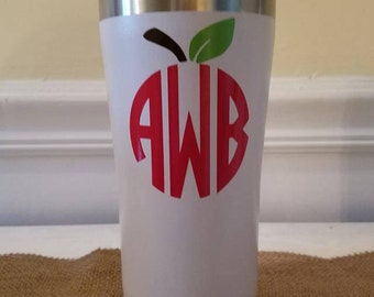 Apple Monogram Tumbler