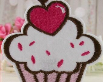 2pcs Adorable Cupcake Iron On Patch