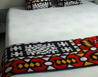BED RUNNER and 2 pillow  COVERS
