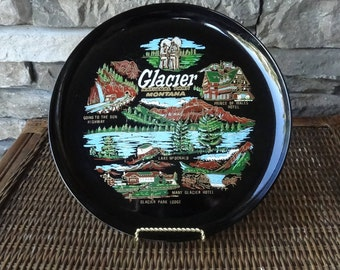 Glacier National Park Montana Collectible Decorative Plate, Plastic, Souvenir