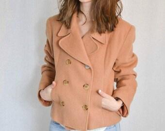 Vintage Wool Blend Peacoat Size S