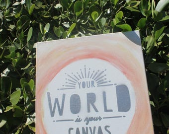 Canvas Art - World is your Canvas