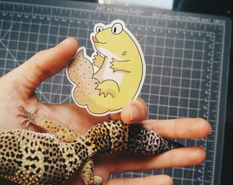 Leopard Gecko Glossy 2.2x2.5 in Vinyl Sticker