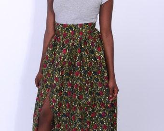 Long High Waist Skirt with Side sSlit