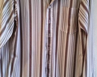 Hip Vintage Men's Large Lapel Shirt - Small 14-14-1/2