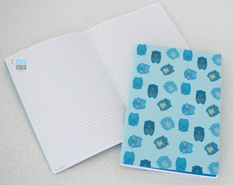 Bear Notebooks (A5 Stitch Bind Round Corner)