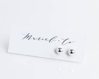 Medium Sterling Silver Ball Earrings