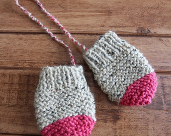 Mittens for baby knitted 6-18 months