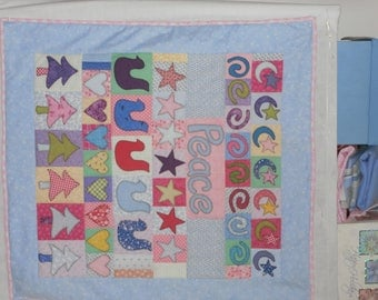 PEACE PILLOW and QUILT