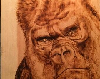 Gorilla Woodburning