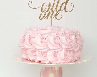 Wild one cake topper, wild one cake smash, wild one birthday girl, first birthday baby girl, gold wild one cake topper, first birthday boy