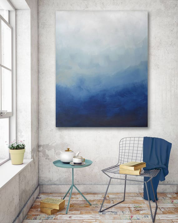 Abstract Blue Ombre