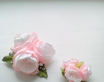Apple tree blossom brooch, spring flower brooch.