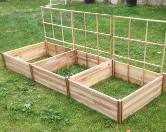 3ft x 3ft x 10.5in Cedar Raised Garden Beds