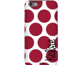 Monogram iPhone 5C Case - Polka iPhone 7 Case - Cute iPhone SE Cover - iPhone 5S Case - iPhone 4S Case - iPhone 7 Plus Case - iPod 5g Case