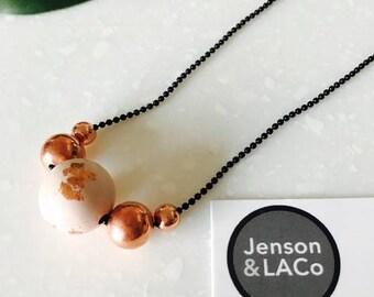 Womens Concrete Beaded Necklace