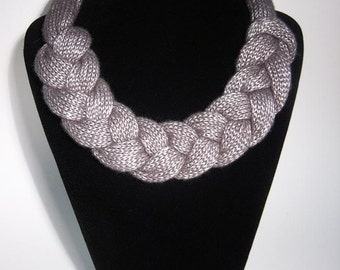 Necklace loop silver scarf chain