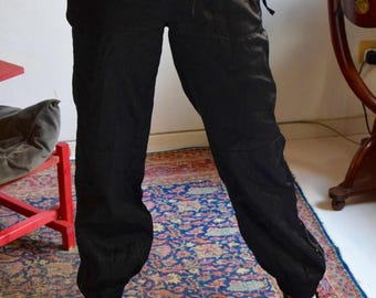 Whistles Black Silk/Cotton Trousers