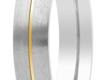 Matt made of pure titanium wedding ring