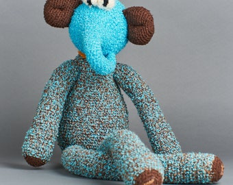 Elephant, Handmade wool animal figure
