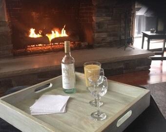 Custom Oak wood serving/decorative tray