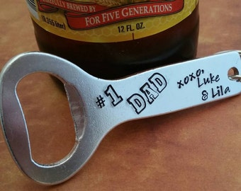 Beer Bottle Opener, Personalized Gift for Beer Drinker, Father's Day Present, Gift for Dad/Grandpa/Uncle/Brother, Custom Engraved