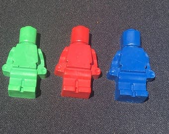 Lego Man Crayons Party Favors (10 bags)- Lego birthday-