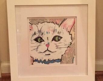 Cat print of original artwork