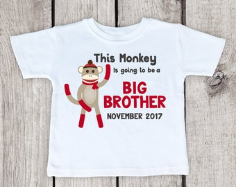 Big Brother Personalized Shirt, soon to be big brother shirt, big brother to be shirt, big brother shirt announcement, big brother shirt