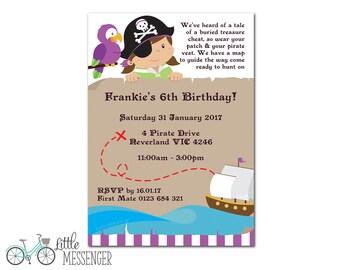 Pirate Invitation - Girl