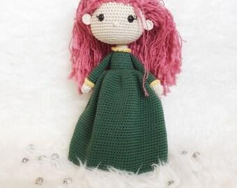 Merida Brave doll: Doll amigurumi, dolls woven crochet, Amigurumi crochet, crochet, custom dolls, girls decor