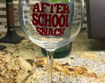 End of Year Teacher Appreciation Wine Glass/Gift