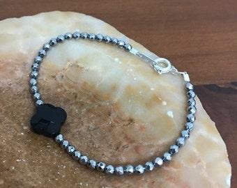 Onyx Hematite bracelet