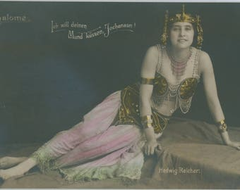 Salome | Turn of the Century | Opera | German Beauty | Tinted Theater Postcard | Elaborate Costume | Early 1900's |