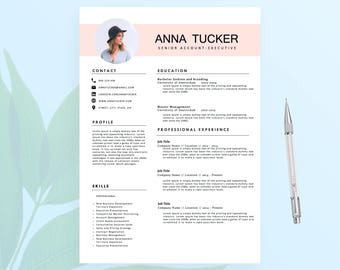 Modern Resume Template / CV Template | Professional and Creative Resume | Teacher Resume | Word Resume | Instant Download