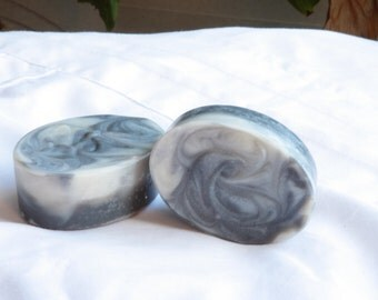 Black Activated Charcoal and Bentonite Clay Facial Soap with  Tea Tree and Eucalyptus Essential Oils