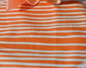 Reusable Breast Pad for Breastfeeding and Nursing in Orange Stripe