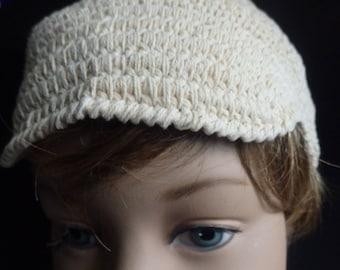 Boys Beige Crochet Cap
